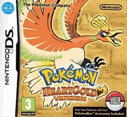 Pokemon Heart Gold DSi and DS Lite Cover Art