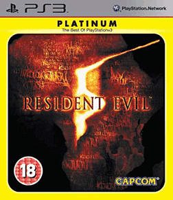 Resident Evil 5 Platinum PlayStation 3 Cover Art