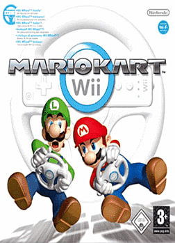 Mario Kart Wii with Official Wii Wheel Wii Cover Art