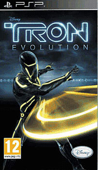 Tron Evolution PSP Cover Art
