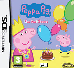 Peppa Pig 2: Fun and Games DSi and DS Lite Cover Art
