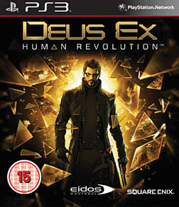 Deus Ex: Human Revolution PlayStation 3 Cover Art
