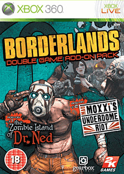 Borderlands: Double Game Add-On Pack Xbox 360 Cover Art