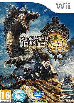 Monster Hunter Tri with Classic Controller Pro Wii Cover Art