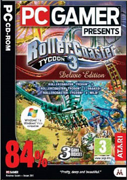 Rollercoaster Tycoon 3 Deluxe PC Games and Downloads Cover Art