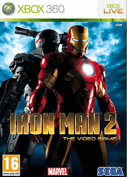 Iron Man 2 Xbox 360 Cover Art