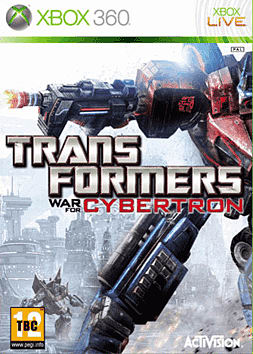 Transformers: War for Cybertron Xbox 360 Cover Art