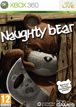 Naughty Bear Xbox 360 Cover Art
