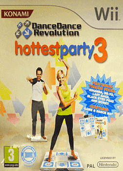 Dance Dance Revolution - Hottest Party 3 (with Dancemat) Wii Cover Art