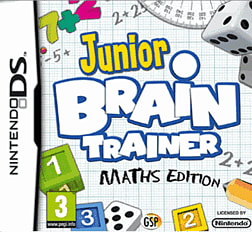 Junior Brain Trainer Maths Edition DSi and DS Lite Cover Art