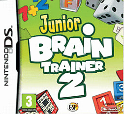 Junior Brain Trainer 2 DSi and DS Lite Cover Art