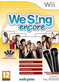 We Sing Encore & Two Mics Pack Wii Cover Art