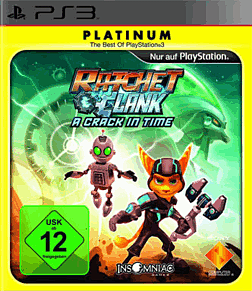 Ratchet & Clank: A Crack in Time Platinum PlayStation 3 Cover Art