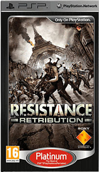 Resistance Retribution Platinum PSP Cover Art