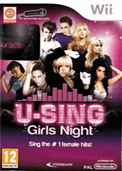 U-Sing: Girls Night (with 2 Microphones) Wii Cover Art