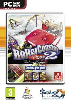 Rollercoaster Tycoon 2 Deluxe PC Games and Downloads Cover Art