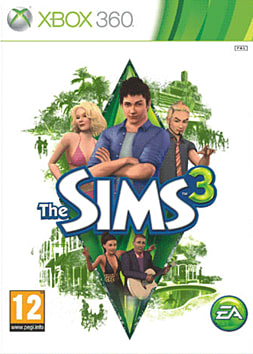 The Sims 3 Xbox 360 Cover Art