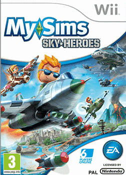 MySims SkyHeroes Wii Cover Art