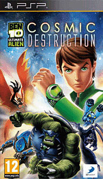 Ben 10 Ultimate Alien: Cosmic Destruction PSP Cover Art