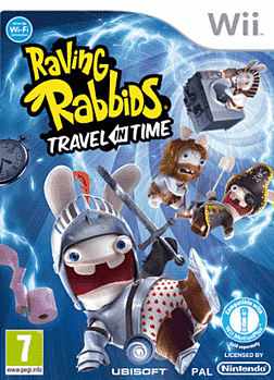 Raving Rabbids Travel In Time Wii Cover Art
