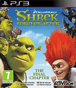 Shrek Forever After PlayStation 3 Cover Art