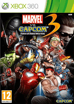 Marvel Vs Capcom 3 Fate of Two Worlds Xbox 360 Cover Art