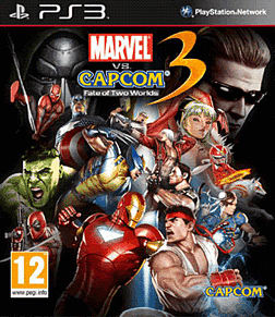 Marvel Vs Capcom 3 Fate of Two Worlds PlayStation 3 Cover Art