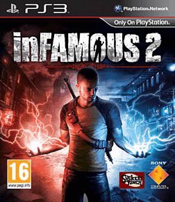 Infamous 2 PlayStation 3 Cover Art