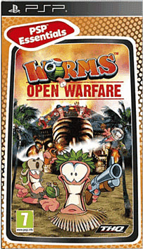 Worms Open Warfare (PSP Essentials) PSP Cover Art