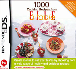 1000 Cooking Recipes from Elle A Table DSi and DS Lite Cover Art