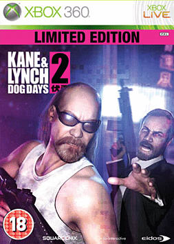 Kane and Lynch 2: Dog Days Limited Edition Xbox 360 Cover Art