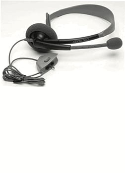 Xbox 360 Headset: Black Accessories 
