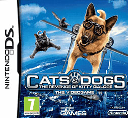 Cats and Dogs: The Revenge of Kitty Galore DSi and DS Lite Cover Art