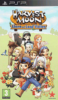 Harvest Moon: Hero of Leaf Valley PSP Cover Art
