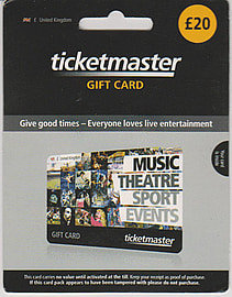 Ticketmaster Gift Card - £20 Gifts