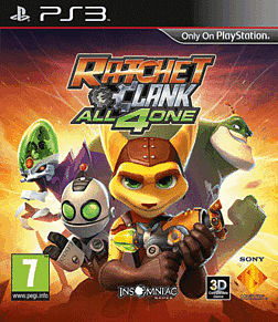 Ratchet and Clank: All 4 One PlayStation 3 Cover Art