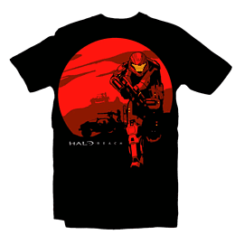 Halo Reach Rising Sun T Shirt (Medium) Clothing and Merchandise