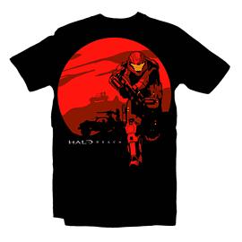Halo Reach Rising Sun T Shirt (Medium) Clothing and Merchandise