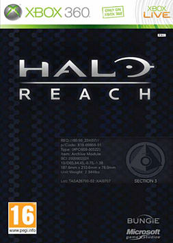 Halo: Reach Limited Edition Xbox 360 Cover Art