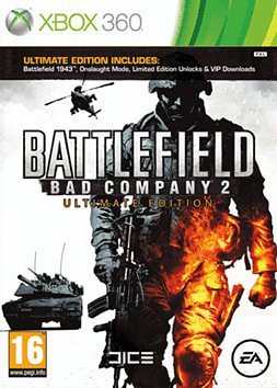 Battlefield Bad Company 2 Ultimate Edition Xbox 360 Cover Art