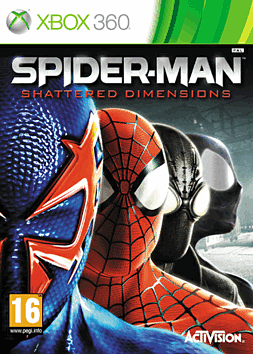 Spiderman: Shattered Dimensions Xbox 360 Cover Art