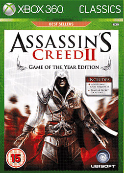 360 Assassin Creed 2 GOTY Platinum Xbox 360 Cover Art