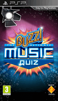 Buzz! The Ultimate Music Quiz PSP Cover Art