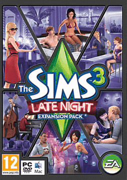 The Sims 3: Late Night PC Games and Downloads Cover Art