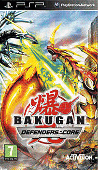Bakugan Battle Brawlers: Defenders of the Core PSP Cover Art