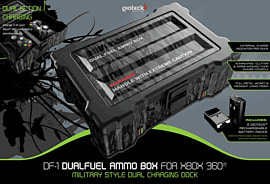Gioteck DF1 Dual Fuel Ammo Box for Xbox 360 Accessories