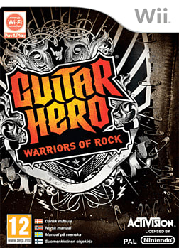 Guitar Hero Warriors of Rock (with guitar) Wii Cover Art