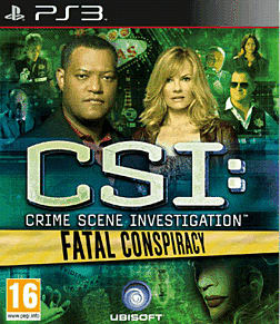 CSI: Fatal Conspiracy PlayStation 3 Cover Art