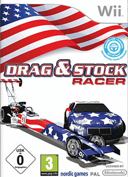 Drag & Stock Racer [Racing Wheel Bundle] Wii Cover Art