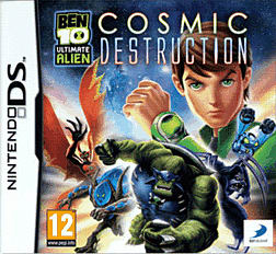 Ben 10 Ultimate Alien: Cosmic Destruction DSi and DS Lite Cover Art